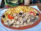 Picado - dużo mięsa i frytek, bez warzyw :) (to MAŁA porcja)