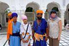 Indie, Amritsar, Ania i sikhowie w Złotej Świątyni