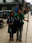2002, Wietnam, Ania z panią z ludu Hmong.
