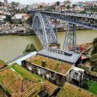 Porto - Widok na Most Luisa z drugiego brzegu Duero (Vila Nova de Gaia)