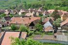 Biertan - widok na miasto z kościelnej wieży
