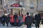 Stary tramwaj w dzielnicy Beyoglu